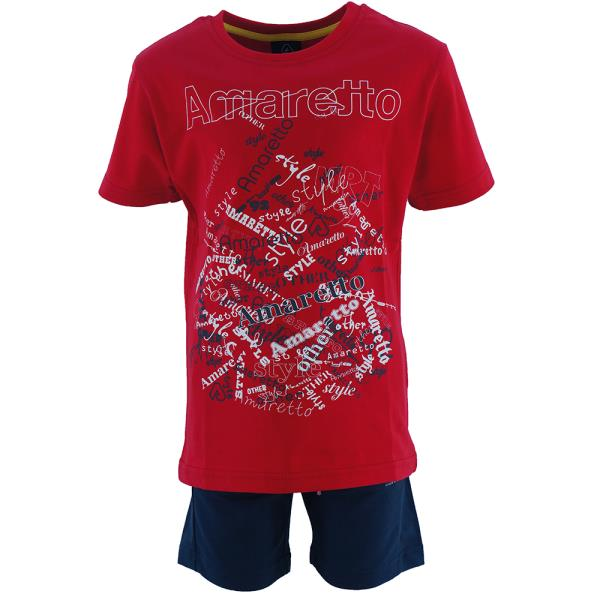 Παιδικό Σετ-Σύνολο Amaretto B1053 Κόκκινο Αγόρι