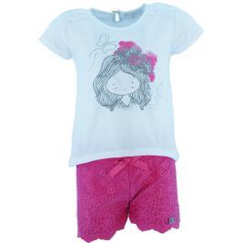 Παιδικό Σετ-Σύνολο Εβίτα 202298 Λευκό Φούξια Κορίτσι