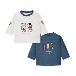 Βρεφικό Σετ Μπλούζες Mayoral 10-02035-014 Μπλε Αγόρι
