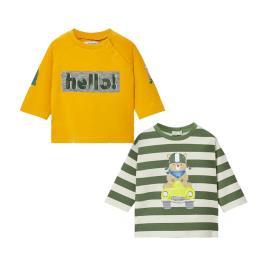 Βρεφικό Σετ Μπλούζες Mayoral 10-02035-015 Πρασινο Αγόρι