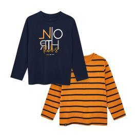 Παιδικό Σετ Μπλούζες Mayoral 10-04043-051 Πορτοκαλί Μπλε Αγόρι