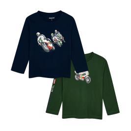 Παιδικό Σετ Μπλούζες Mayoral 10-04047-043 Κυπαρισσί Μπλε Αγόρι