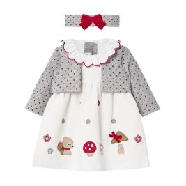 Βρεφικό Φόρεμα Mayoral 10-02851-065 Εκρού Κορίτσι