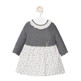 Βρεφικό Φόρεμα Mayoral 10-02852-074 Ανθρακί Κορίτσι