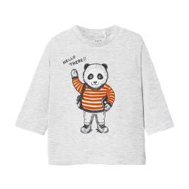 Βρεφική Μπλούζα Mayoral 10-02041-087 Γκρι Αγόρι