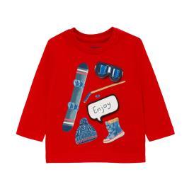 Βρεφική Μπλούζα Mayoral 10-02047-086 Κόκκινο Αγόρι
