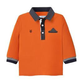 Βρεφική Μπλούζα Mayoral 10-02121-030 Πορτοκαλί Αγόρι