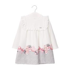 Βρεφικό Φόρεμα Mayoral 10-02946-058 Εκρού Κορίτσι
