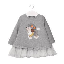 Βρεφικό Φόρεμα Mayoral 10-02965-087 Γκρι Κορίτσι