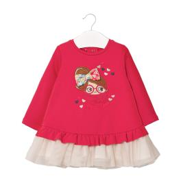 Βρεφικό Φόρεμα Mayoral 10-02965-088 Κοραλί Κορίτσι