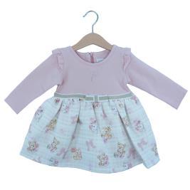 Βρεφικό Φόρεμα Εβίτα 203533 Σομόν Κορίτσι