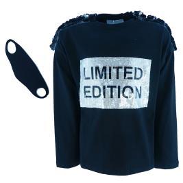 Παιδική Μπλούζα Εβίτα 203170 Μαύρο Κορίτσι