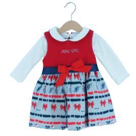 Βρεφικό Φόρεμα Εβίτα 203538 Κόκκινο Κορίτσι
