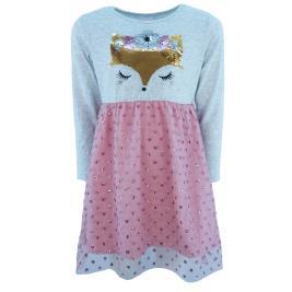 Παιδικό Φόρεμα NCollege 31-759 Μελανζέ Ροζ Κορίτσι