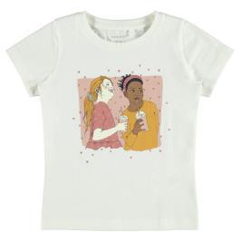Παιδική Μπλούζα Name It 13187119 Λευκό Κορίτσι
