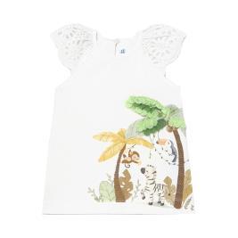 Βρεφικό Φόρεμα Mayoral 21-01983-090 Λευκό Κορίτσι