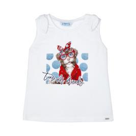 Παιδική Μπλούζα Mayoral 21-03025-087 Λευκό Κορίτσι