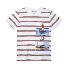 Παιδική Μπλούζα Mayoral 21-03029-073 Πορτοκαλί Ριγέ Αγόρι