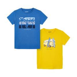 Παιδικό Σετ Μπλούζες Mayoral 21-03033-070 Κίτρινο Αγόρι