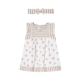Βρεφικό Φόρεμα Mayoral 21-01802-043 Μπεζ Κορίτσι
