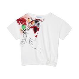 Παιδική Μπλούζα Mayoral 21-06017-042 Λευκό Κορίτσι