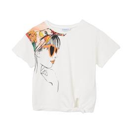 Παιδική Μπλούζα Mayoral 21-06017-041 Εκρού Κορίτσι