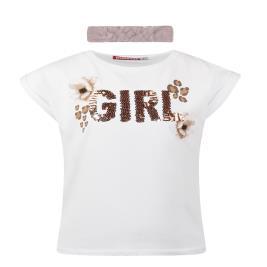 Παιδική Μπλούζα Energiers 15-221334-5 Λευκό Κορίτσι