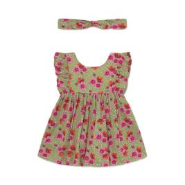 Βρεφικό Φόρεμα Mayoral 21-01987-030 Πράσινο Κορίτσι