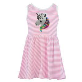 Παιδικό Φόρεμα Trax 37219 Λευκό Ροζ Κορίτσι
