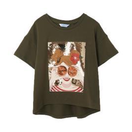 Παιδική Μπλούζα Mayoral 21-06021-016 Χακί Κορίτσι