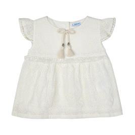 Παιδικό Φόρεμα Mayoral 21-03191-042 Εκρού Κορίτσι