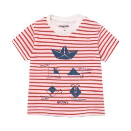 Βρεφική Μπλούζα Mayoral 21-01005-087 Κοραλί Ριγέ Αγόρι