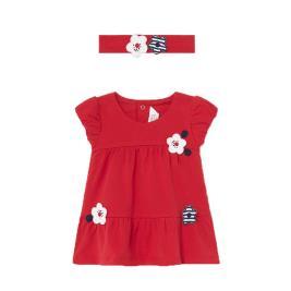 Βρεφικό Φόρεμα Mayoral 21-01806-015 Κόκκινο Κορίτσι