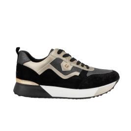 Γυναικείο Sneaker Renato Garini 18-21EX20 Μαύρο Χρυσό