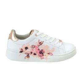 Γυναικείο Sneaker Renato Garini 19WC1219C Λευκό Λουλούδι