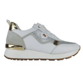 Γυναικείο Sneaker Renato Garini 71-21EX01 Λευκό Χρυσό Glitter