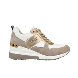 Γυναικείο Sneaker Renato Garini 34-21RG01 Μπεζ Λευκό
