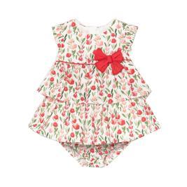 Βρεφικό Φόρεμα Mayoral 21-01831-063 Κόκκινο Κορίτσι