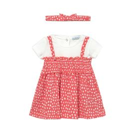 Βρεφικό Φόρεμα Mayoral 21-01985-053 Κοραλί Κορίτσι