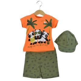 Βρεφικό Σετ-Σύνολο Hashtag 214605 Πορτοκαλί Αγόρι