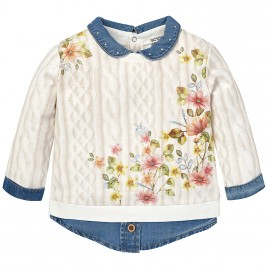 Βρεφική Μπλούζα Mayoral 2452 Εκρού Κορίτσι