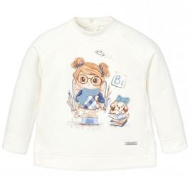 Βρεφική Μπλούζα Mayoral 2458 Εκρού Κορίτσι
