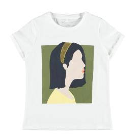 Παιδική Μπλούζα Name It 13189186 Λευκό Κορίτσι