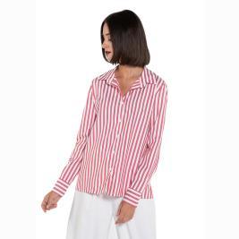 Γυναικείο Πουκάμισο Anel 31639 Κόκκινο Λευκό