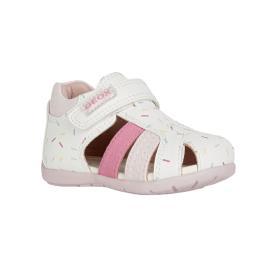 Βρεφικό Πέδιλο Geox B151QD 05410 C0406 Λευκό Ροζ