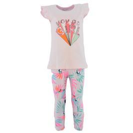 Παιδικό Σετ-Σύνολο Εβίτα 214224 Λευκό Ροζ Κορίτσι