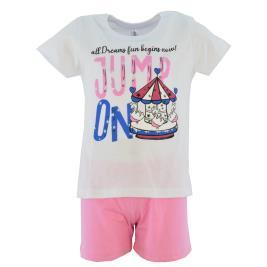 Παιδική Πυτζάμα Dreams 212104 Λευκό Κορίτσι