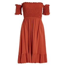 Γυναικείο Φόρεμα Celestino SH7959.8187 Κεραμιδί