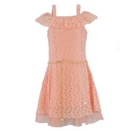 Παιδικό Φόρεμα Εβίτα 214024 Ροδακινί Κορίτσι