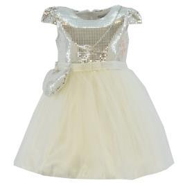 Παιδικό Φόρεμα Εβίτα 214284 Εκρού Ασημί Κορίτσι